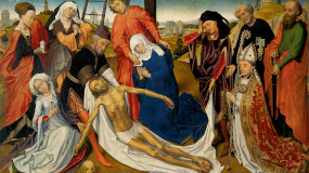 Painting of crucification