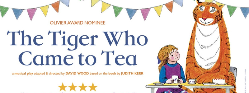 The Tiger Who Came To Tea. Olivier award nominatee. A musical play adapted & directed by David Wood, based on the book by Judith Kerr.